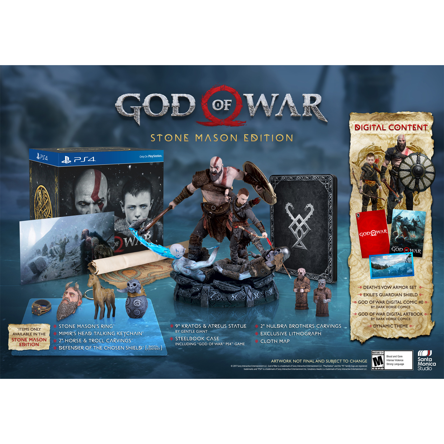 God of War Stone Mason Edition, Sony, PlayStation 4, 711719516057