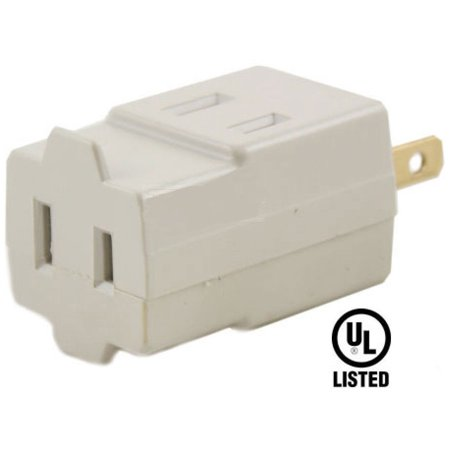 US plug convert to 3 Outlet sockets splitter converter Ivory Cube