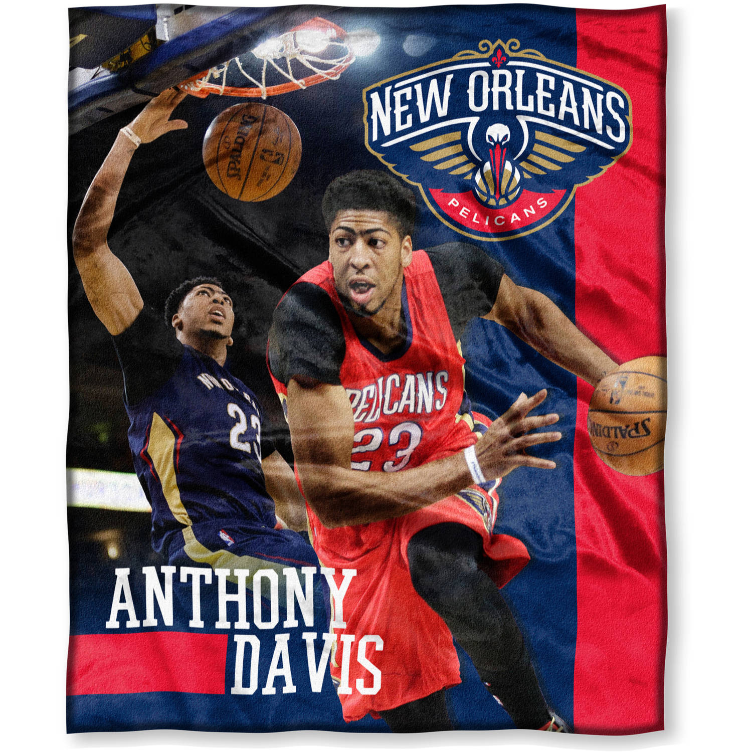 "NBA Anthony Davis 50"" x 60"" New Orleans Pelicans Players High Definition Silk Touch Throw"