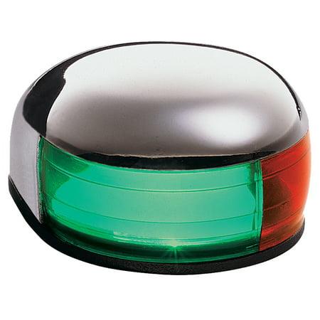 Deck Mount Navigation Light (Aqua Signal 24105 Series 24 12V Navigation Light with Tell-Tale Indicator, Bi-Color Deck Mount, Stainless)