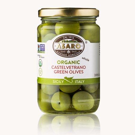 Organic Whole Castelvetrano Green Olives - 6 oz