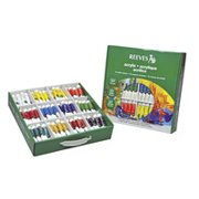 Reeves Acrylic Paint Classroom Pack, 10 ml Tubes, Assorted Colors, Pack of 144