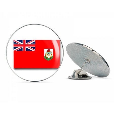 "Bermuda Flag  Steel Metal 0.75"" Lapel Hat Shirt Pin Tie Tack Pinback"