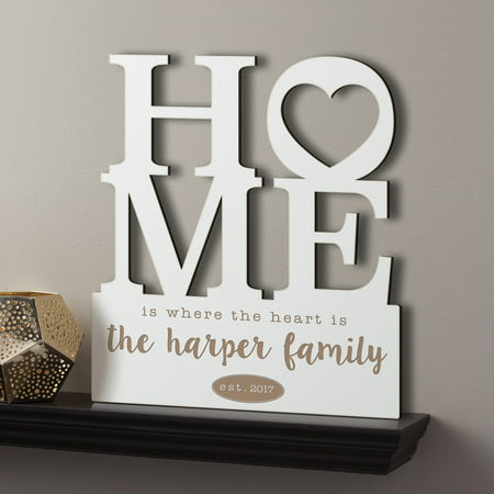 Personalized Home Is Where The Heart Is Antique White Wood Plaque Chicago White Sox Plaque
