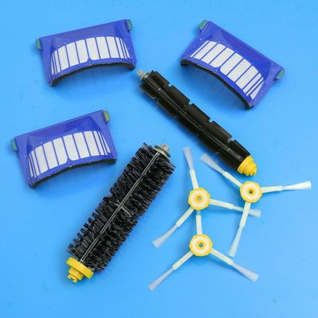 8Pcs 3-Armed Brush & Filter Kit for iRobot Roomba Aerovac 600 series 620 630 650 660 Vacuum Parts - image 3 de 8