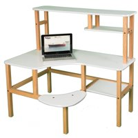 Wild Zoo Pre-School Computer Desk with Optional Hutch and Printer Stand - White