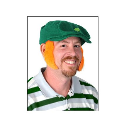 Chop Sideburns (Pack of 12 St. Patrick's Orange Mutton Chop Sideburn Costume Accessories)