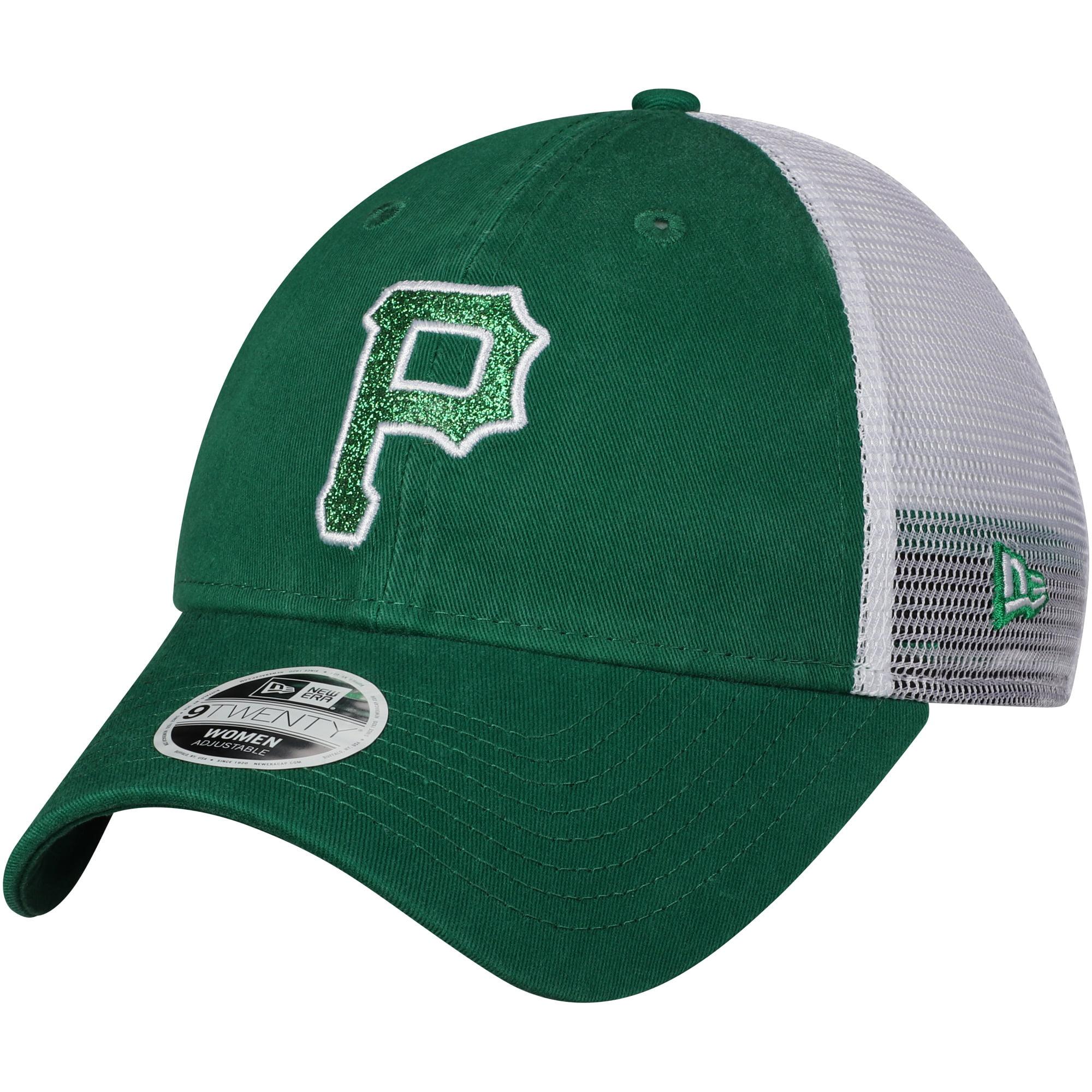 Pittsburgh Pirates New Era Women's Trucker Shine St. Patrick's Day 9TWENTY Adjustable Hat - Green - OSFA