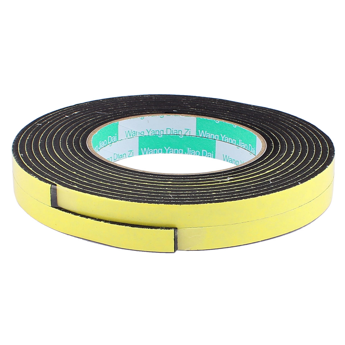 2 Pcs 1CM Width 4M Length 3MM Thick Single Sided Sealing Shockproof Sponge Tape