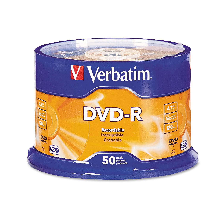 Verbatim dvd rw 4 7gb 4x with branded surface 30pk spindle 4 7gb - Verbatim Dvd R Discs 4 7gb 16x Spindle Silver 50 Pack