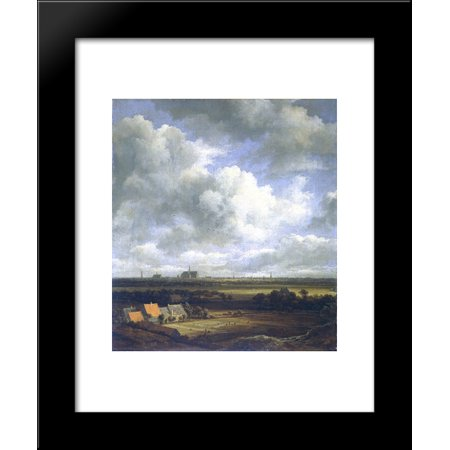 View of Haarlem with bleaching fields in the foreground 20x24 Framed Art Print by Jacob Isaakszoon van -