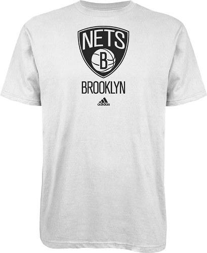 Brooklyn Nets Adidas NBA Full Primary Logo T-Shirt White by Adidas