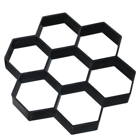 Home & Garden Creative Hexagon DIY Decoring Plastic Path Maker Model Concrete Stepping Stone Cement Mould Brick Patio Concrete Slabs Path Garden Yard Walk Maker Mould Driveway Mold ()