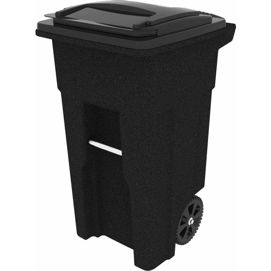 Toter 32 Gallon 2-Wheel Trash Can Cart, Blackstone