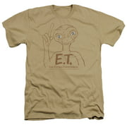 ET the Extra Terrestrial Pointing Mens Heather Shirt