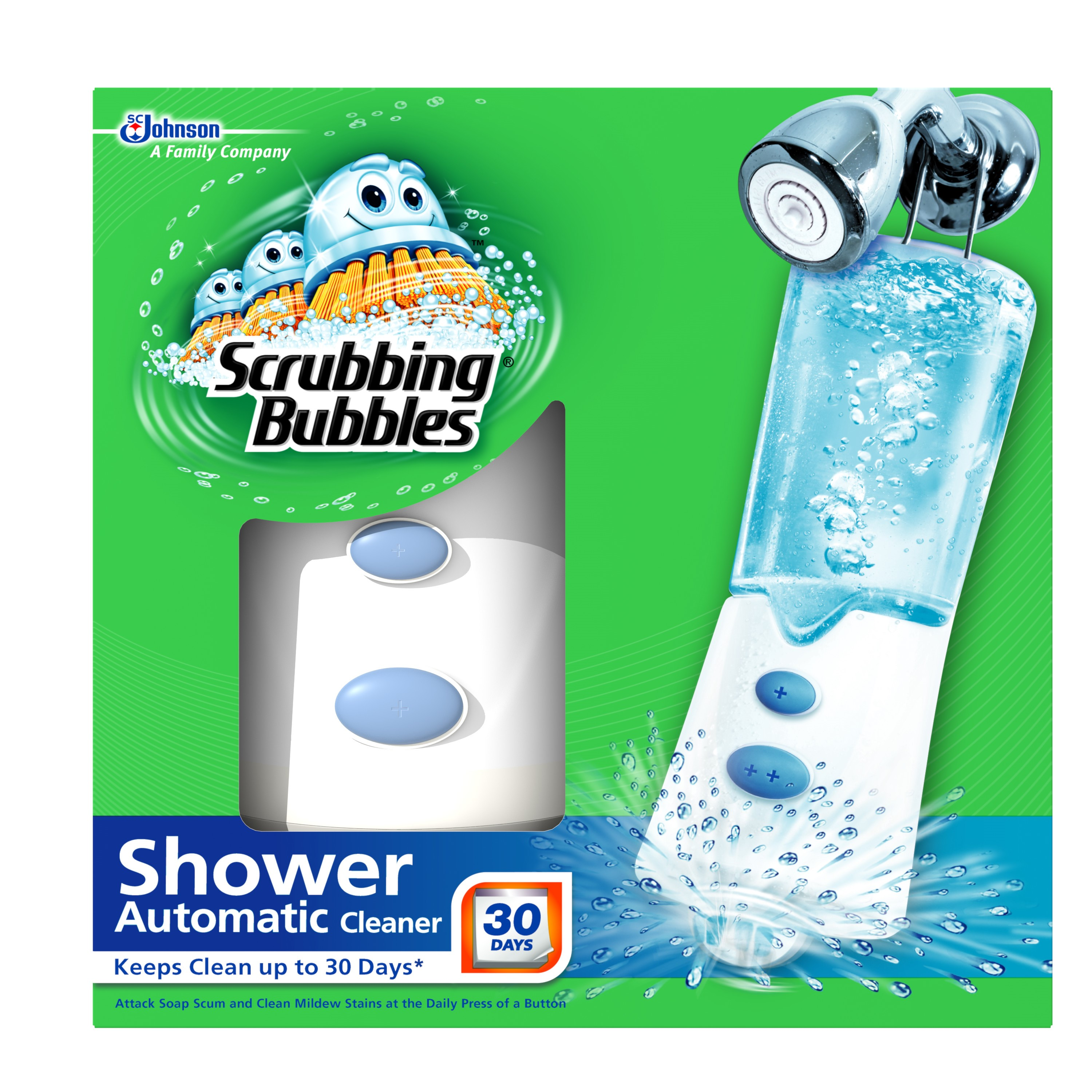 Scrubbing Bubbles Bathroom Cleaner Automatic Shower Cleaner KIT w 2 solutions