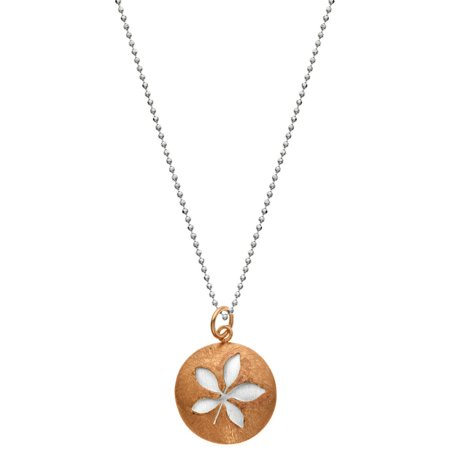 Image of 5th & Main 14kt Rose Gold-Plated and Sterling Silver Leaf Pendant