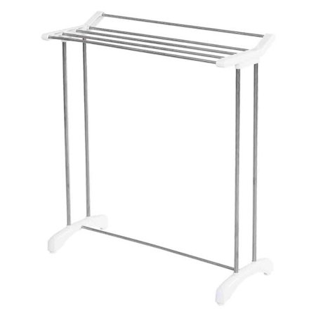 Gymax Free Standing Towel Rack Stand Stainless Steel