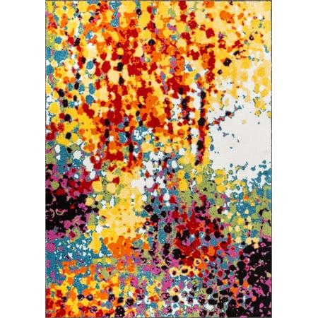 Well Woven Viva Partridge Modern Abstract Paint Splash Multi 5'3