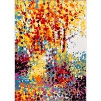 "Well Woven Viva Partridge Modern Abstract Paint Splash Multi 5'3"" x 7'3"" Bright Area Rug"