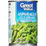 Great Value? Asparagus Cut Spears Tips Included 14.5 oz. Can
