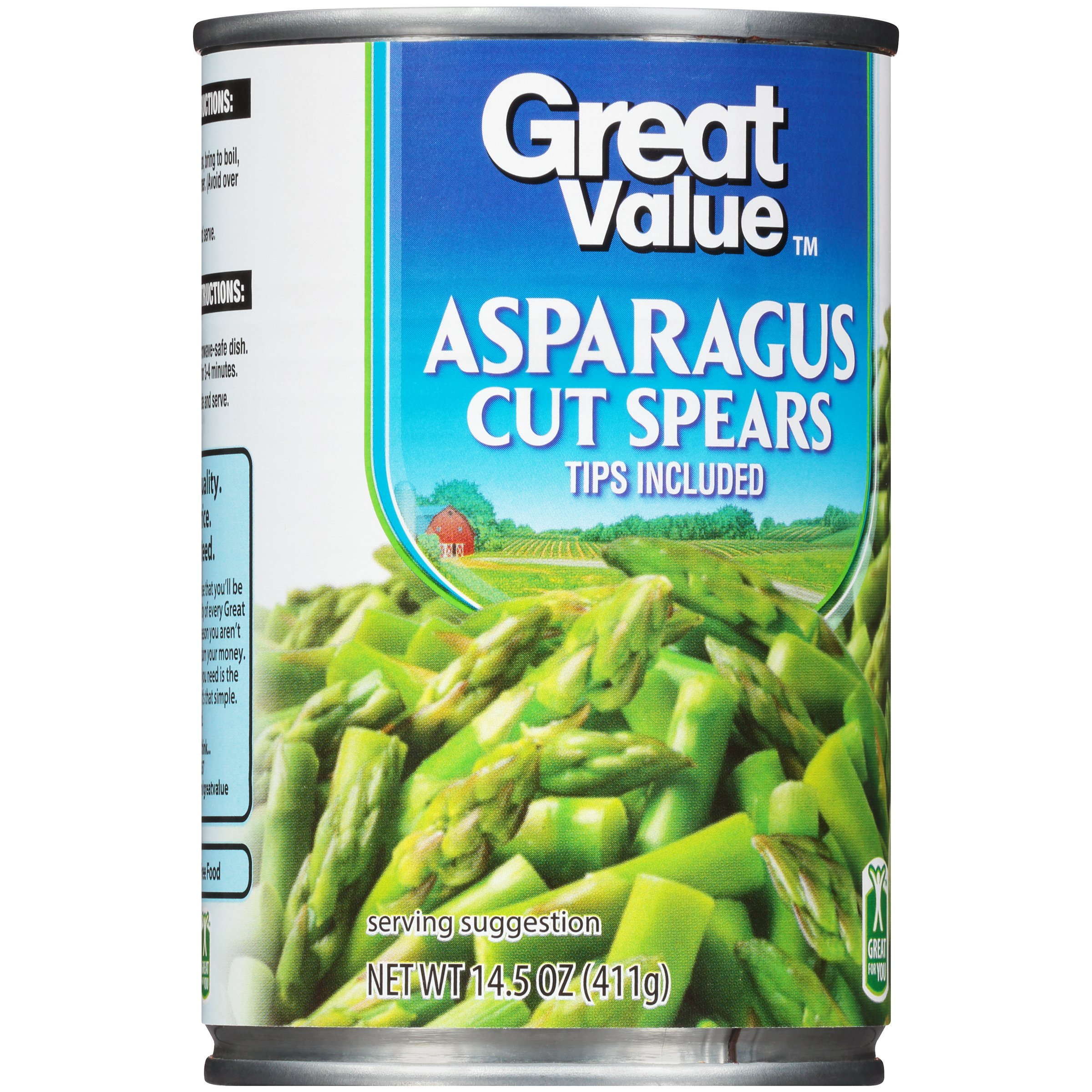 Great Value Cut Asparagus Spears With Tips, 14.5 Oz ...