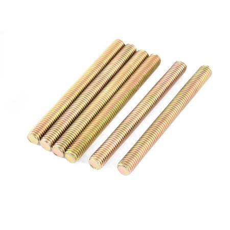 Bronze Threaded Rod - 1.25mm Pitch M8 x 80mm All Thread Fully Threaded Rod Bar Bronze Tone 6 Pcs