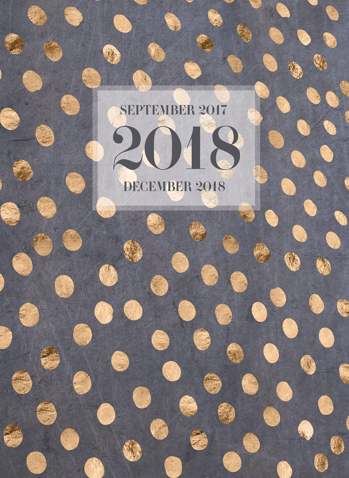2018 Gold Dots Monthly Planner by TF Publishing