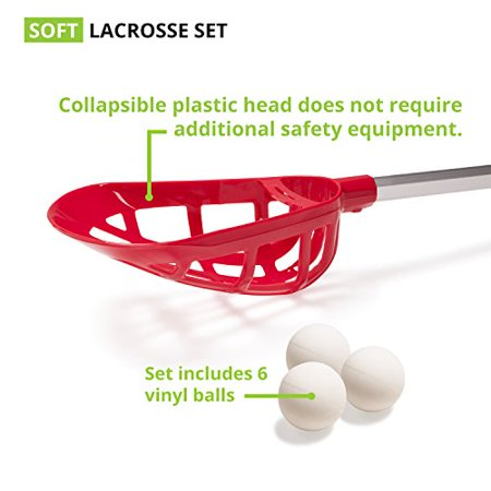 Champion Sports LAXSR Soft Lacrosse Set, White - image 2 of 4