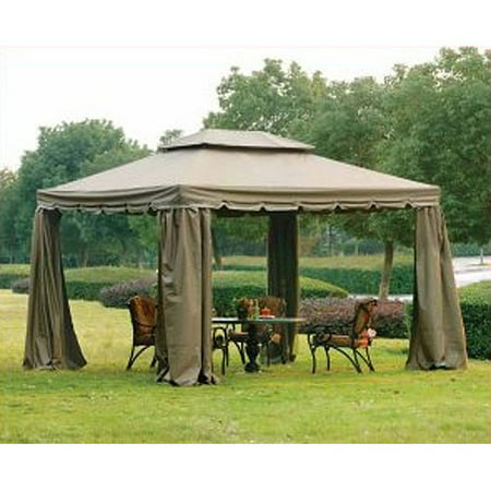 Garden Winds Replacement Canopy Top And Side Mosquito Netting Set For Bjs Sunjoy Gazebo   Riplock 350