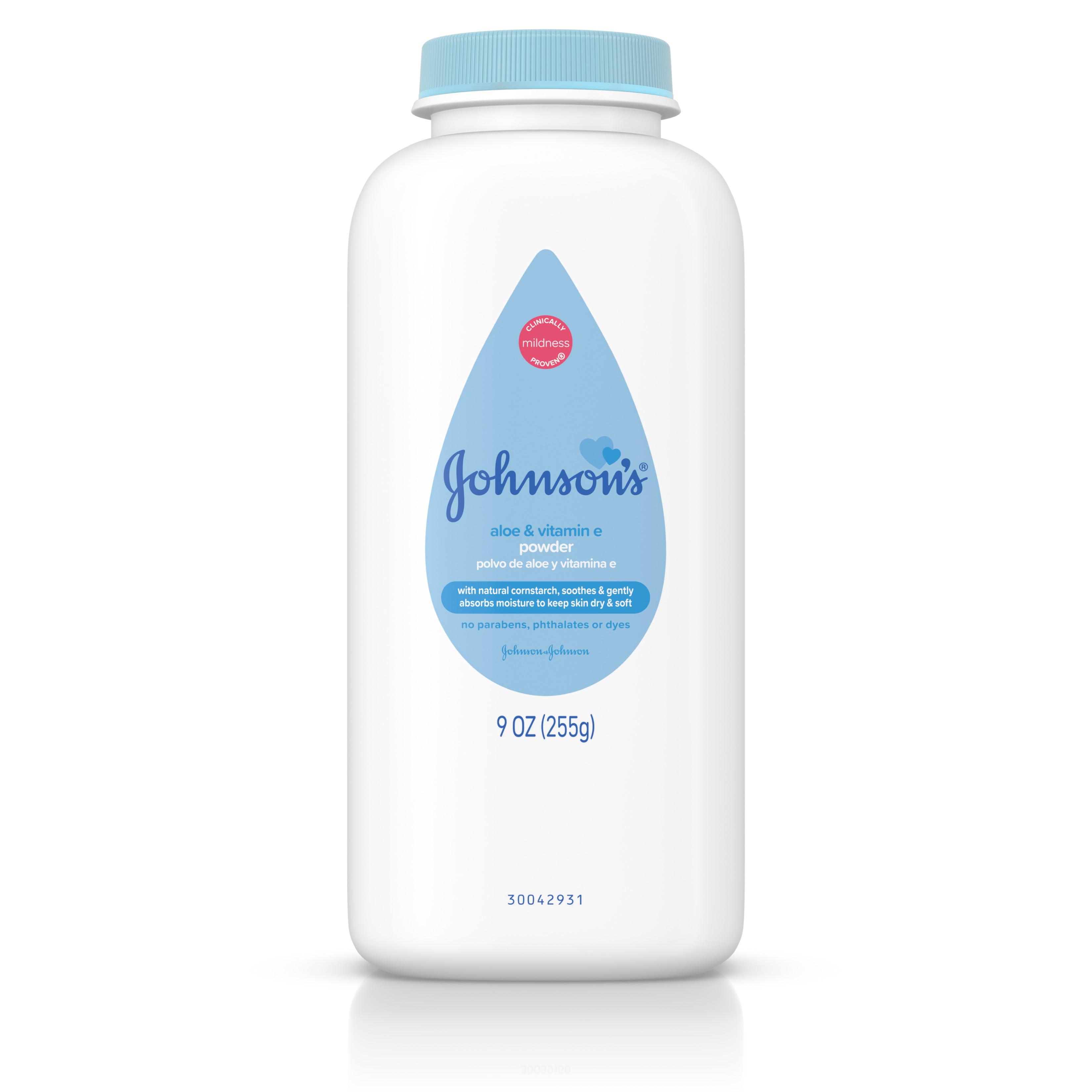 (2 pack) Johnsons Baby Powder With Aloe Vera & Vitamin E, Diaper Rash Protection, 22 Oz. by Johnson & Johnson