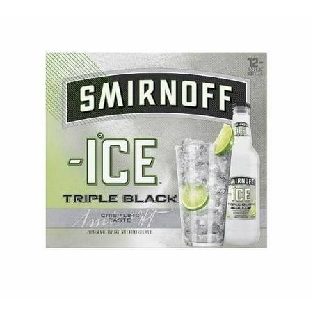 Smirnoff Ice Beer Triple Black Cocktail, 12 pack, 11.2 fl oz