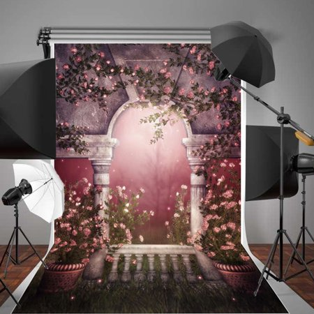 5x7FT Flowers Romantic Party Wedding Vinyl Fabric Photography Background Backdrops Photo Studio Props Equipment - Party Equipment