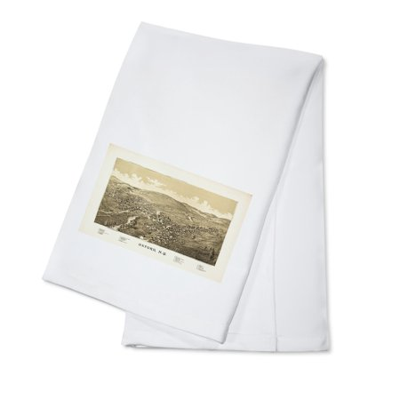 - Oxford, New York - Panoramic Map (100% Cotton Kitchen Towel)