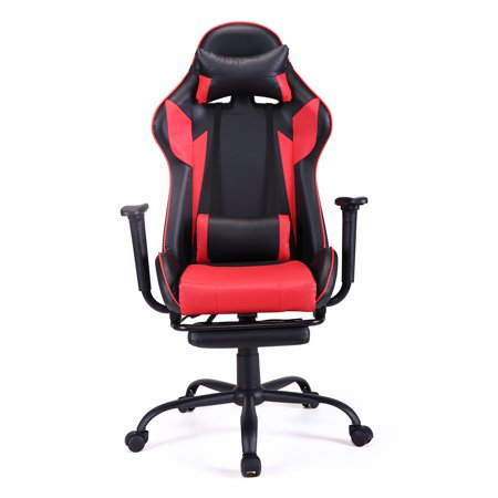 Jaxpety Office Gaming Chair Racing Seat Computer Recliner Adjustable Executive Swivel Task Desk Chair, Red