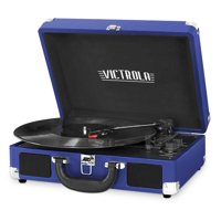 Victrola Bluetooth Portable Suitcase Record Player with 3-speed Turntable