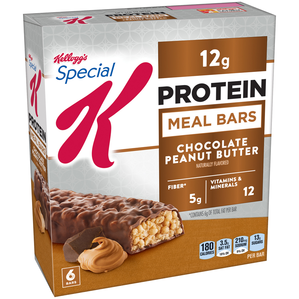 Kellogg's Special K Protein Meal Bar, Chocolate Peanut Butter, 12g Protein, 6 Ct