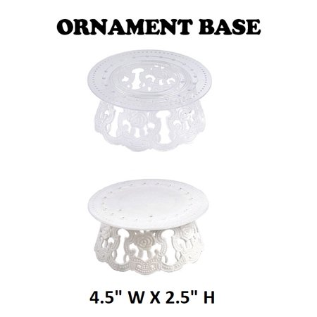 Trooper Base - 12 Pieces 4.5 Inch Clear Plastic Ornament Base For Cake Topper Base & Favors