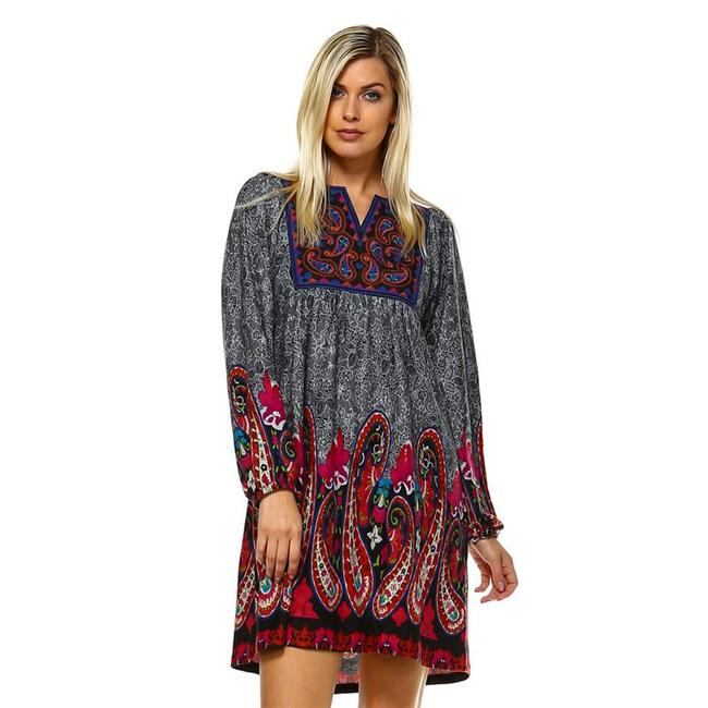 White Mark Ps861 01 1xl Plus Size Apolline Embroidered Sweater Dress