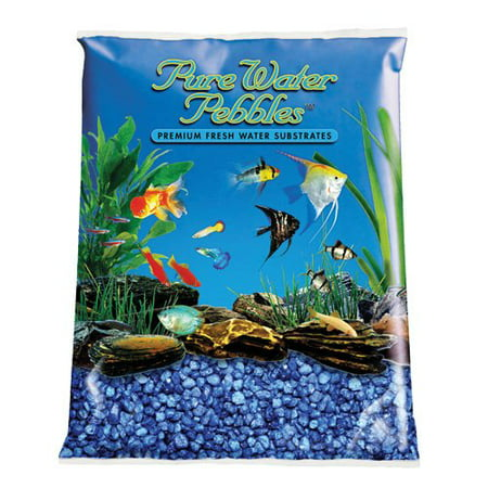 Large Gravel - Pure Water Pebbles Aquarium Gravel 2-Pound Marine Blue (Pack of 1)