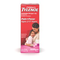 Children's Tylenol Pain + Fever Relief Medicine, Bubble Gum, 4 fl. oz