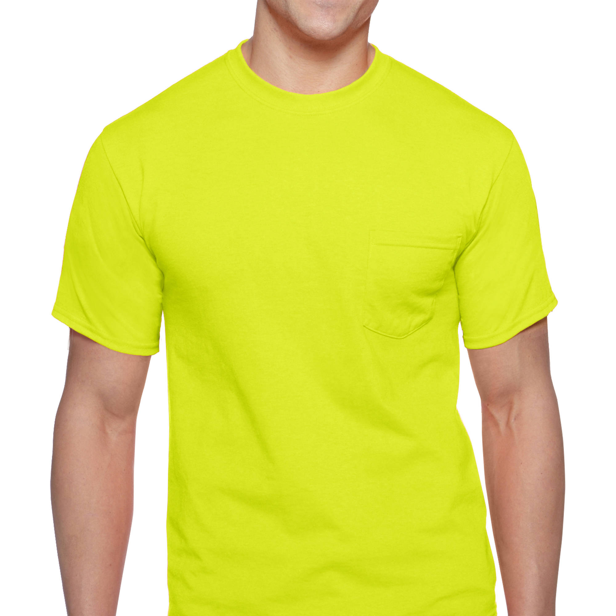 Big Men's Workwear Short Sleeve High Visibility Crew, 2-Pack