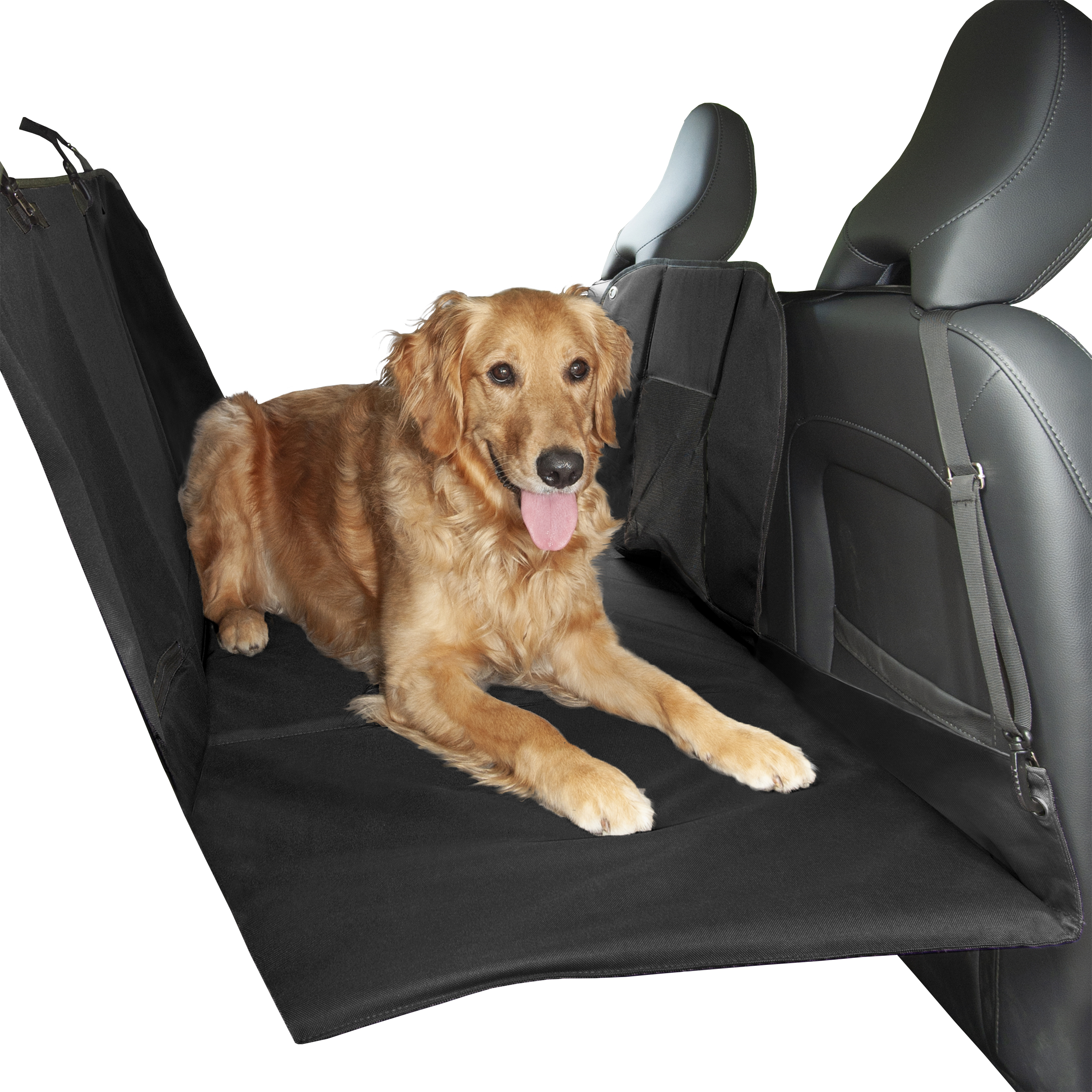 Non Slip Booster Seat For Small Medium Dogs /& Puppies Posh Buddy Dog Car Seat with Cooling Mat /& Seat Belt Padded Extra Strong Fold Down Panels Car Seat Belt Clip Quilted Waterproof 2in1