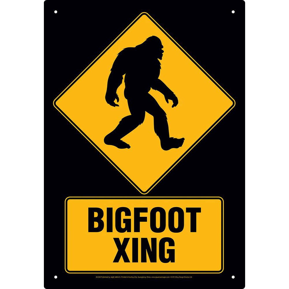 Bigfoot Xing Tin Sign by NMR DISTRIBUTION NOVELTY