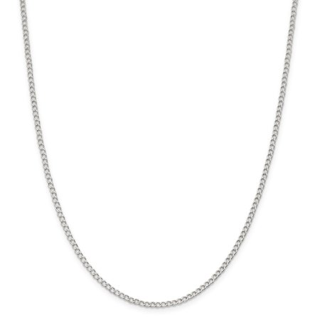 925 Sterling Silver 2.5mm Wide Curb Chain 18 Inch - image 1 de 5