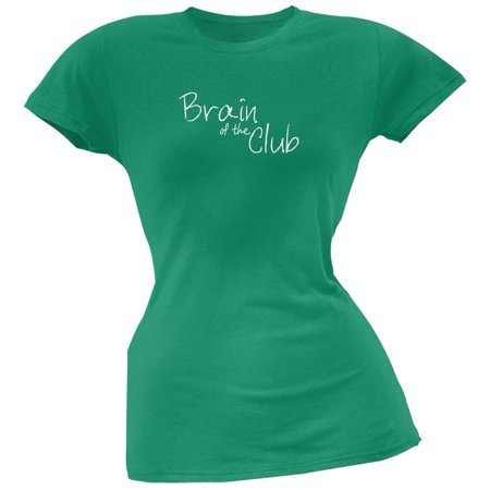 Brain of the Club Kelly Green Juniors Soft T-Shirt
