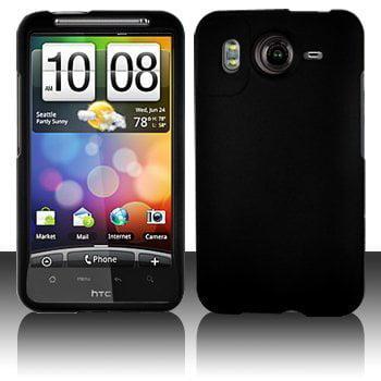 Hard Rubberized Case for HTC Inspire 4G - Black