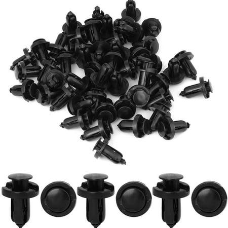 50 Pcs Car Door Panel Black Plastic Rivets Retainer Clip for Honda Acura