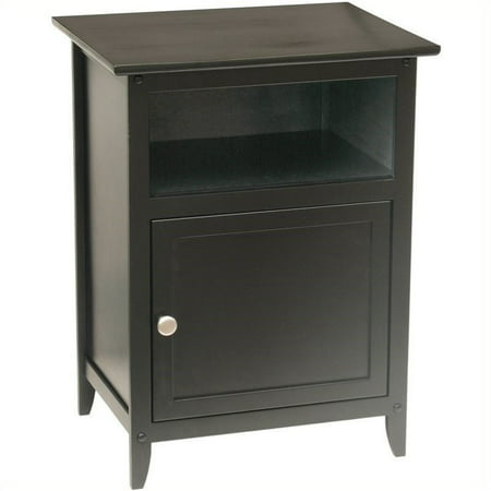 Pemberly Row Solid Wood End Table in Black ()