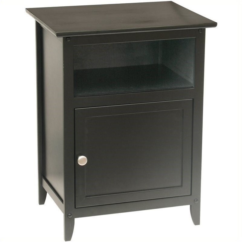 Pemberly Row Solid Wood End Table in Black